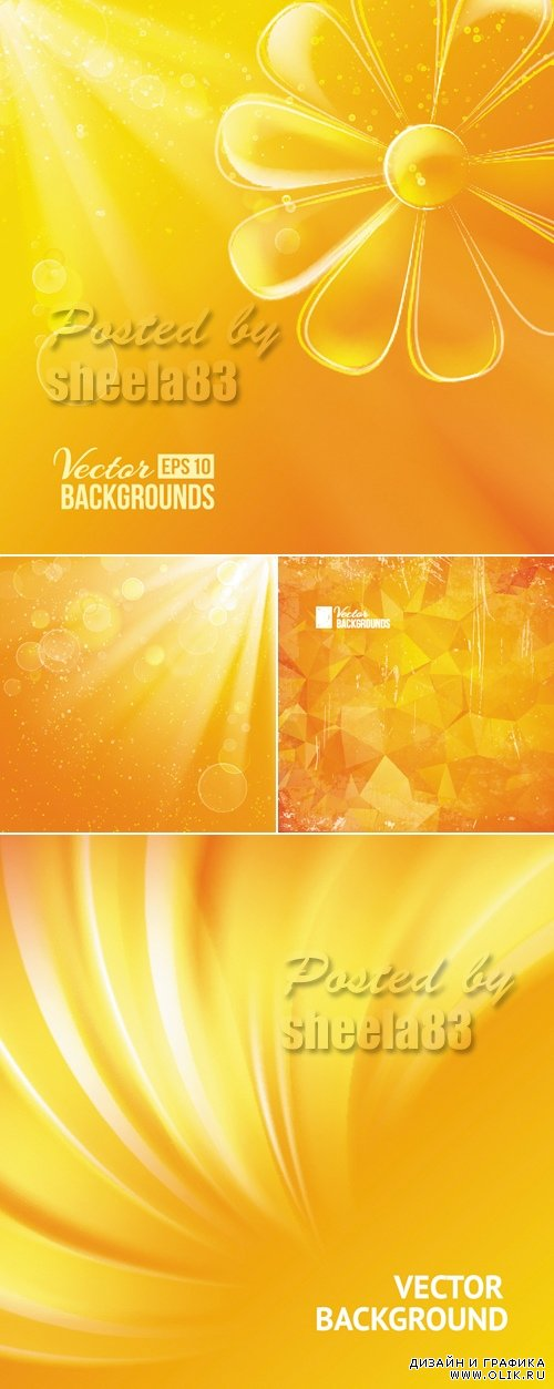Sunshine Backgrounds Vector