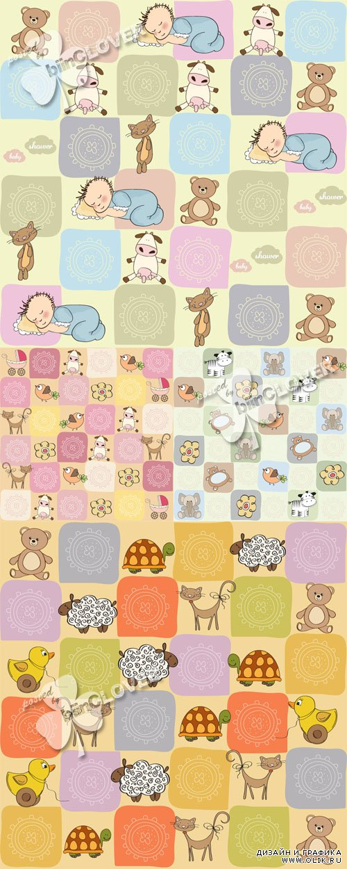 Childish seamless pattern with toys 0319