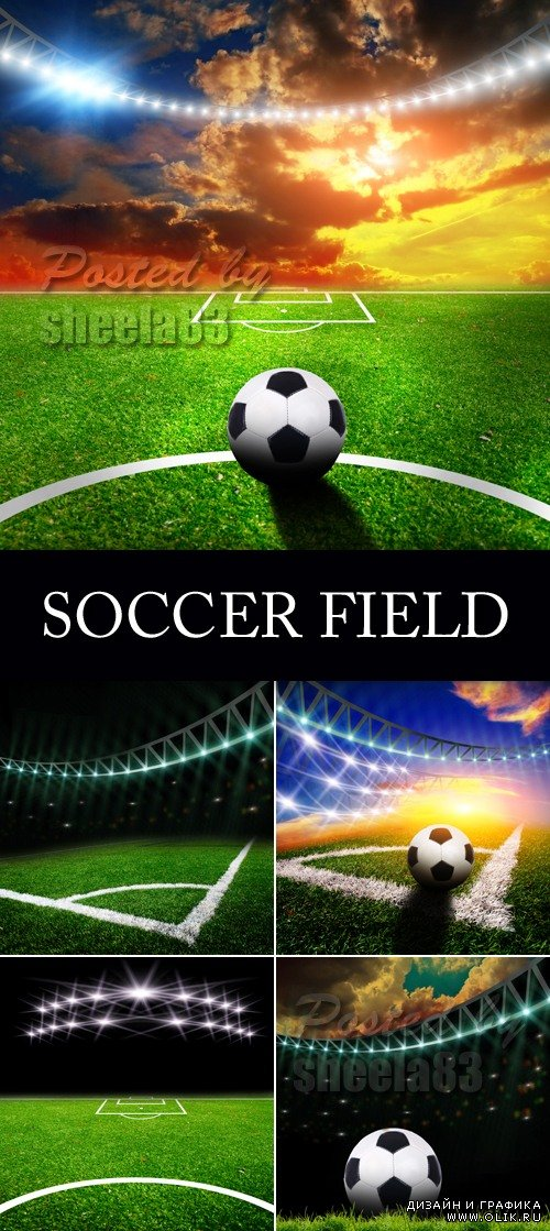 Stock Photo - Soccer Field with Lights