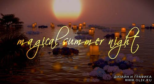 Photo Gallery on a Magical Summer Night - Project for After Effects (VideoHive)