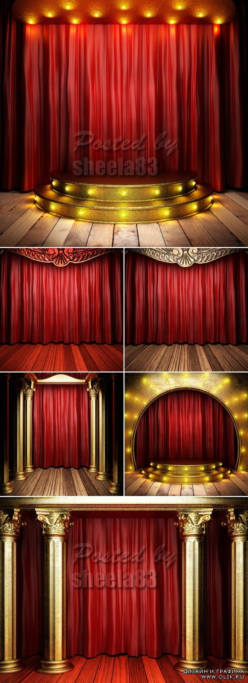 Stock Photo - Stage & Curtains
