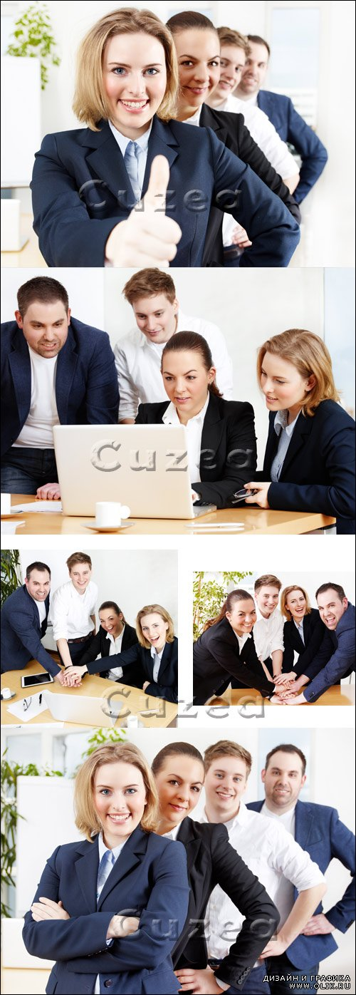 Бизнес команда в офисе/ Business team in the office- Stock photo