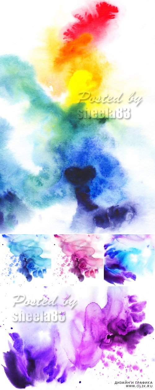 Stock Photo - Abstract Watercolor Backgrounds