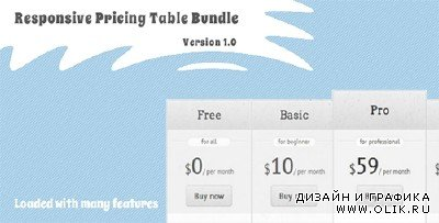 CC - Responsive Pricing Table Bundle - Pure CSS