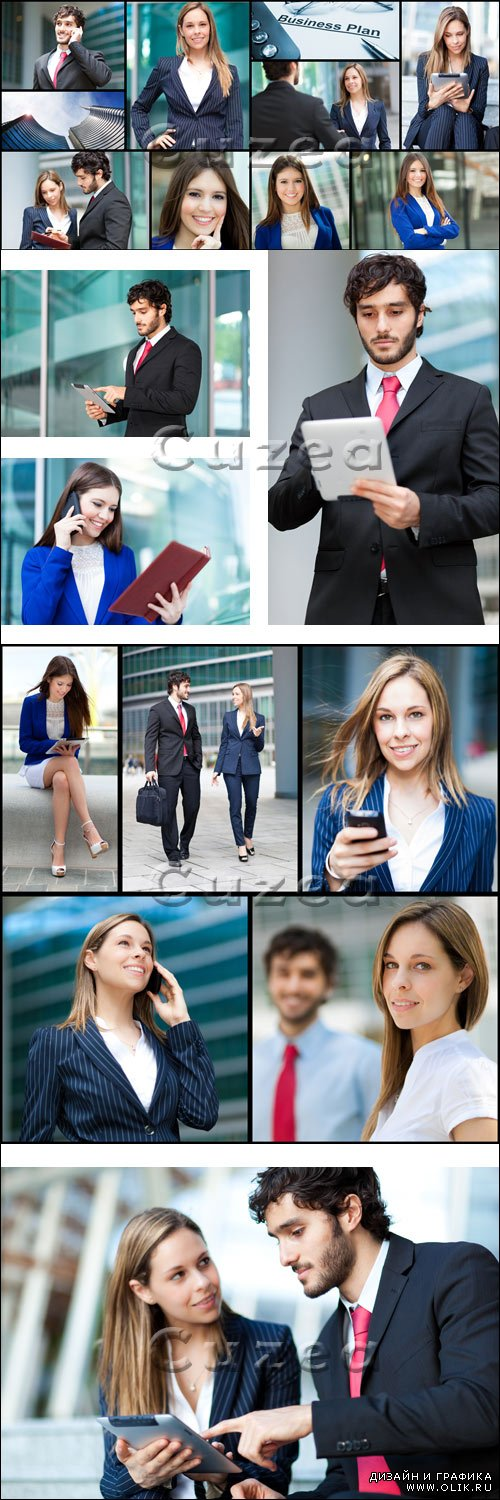 Коллаж бизнес людей / Business people collage - stock photo