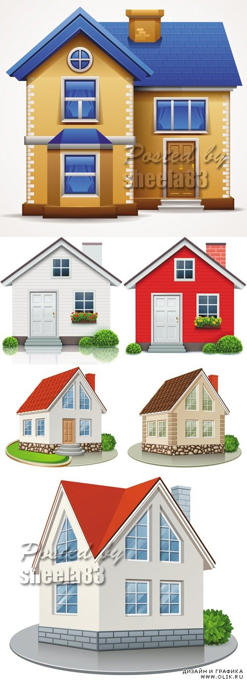 Real Estate Concept - Houses Vector