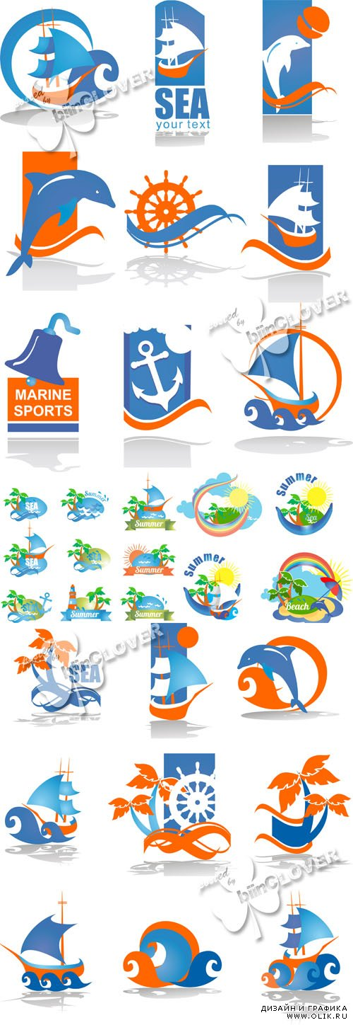 Summer logos and icons 0422