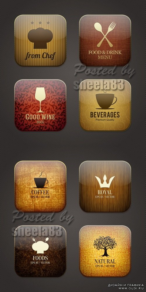 Food & Drink Applicaion Icons Vector