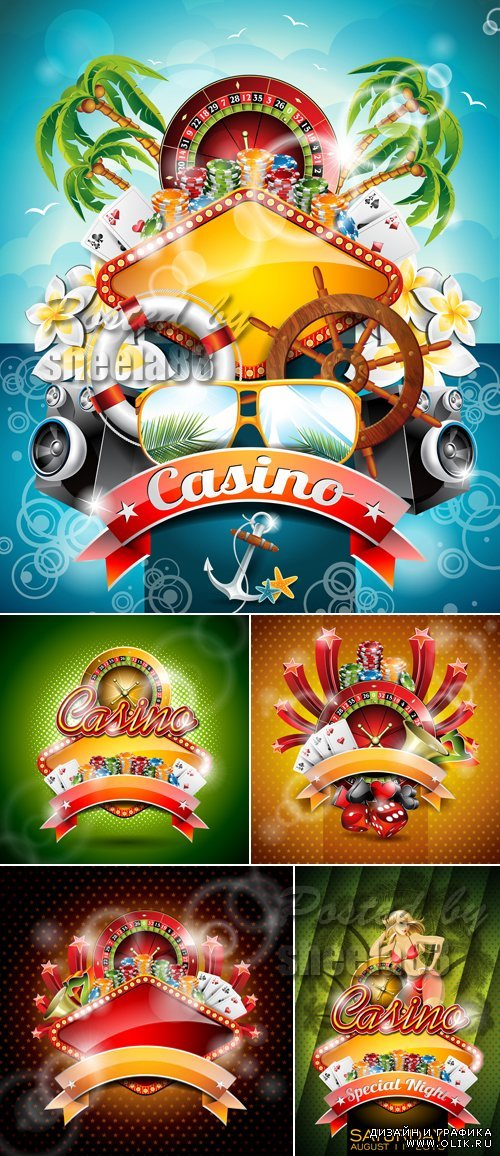 Bright Casino Backgrounds Vector