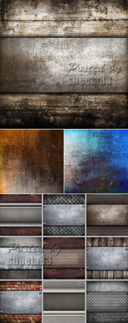 Stock Photo - Grunge Metal Backgrounds