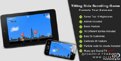 CC - Tilting Side Scrolling Game - Promote Any Business