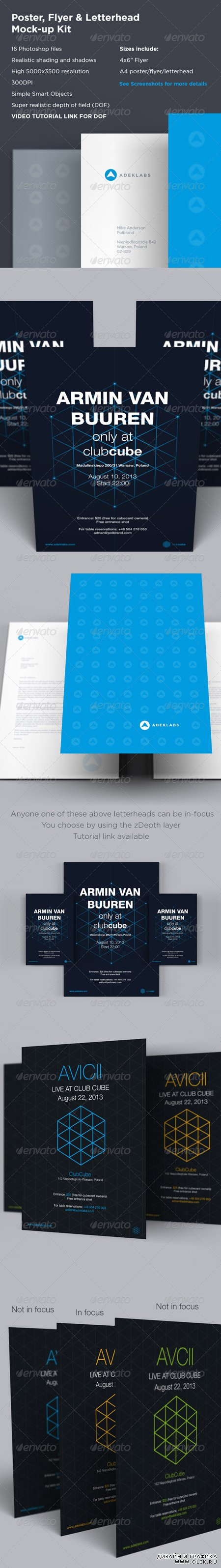 Poster Flyer & Letterhead Mock-up Kit