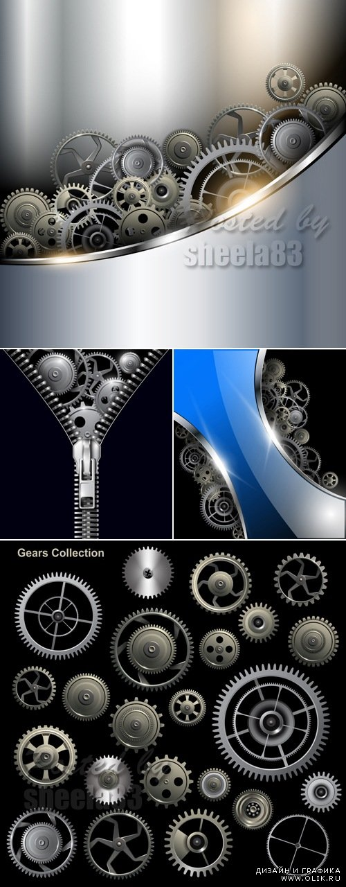 Gears & Gears Backgrounds Vector