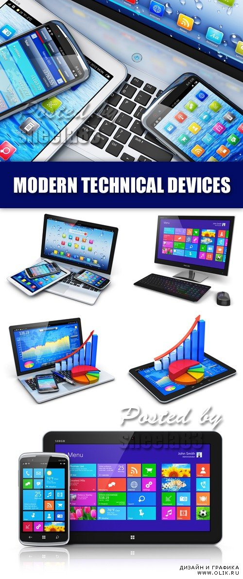 Stock Photo - Modern Technical Devices