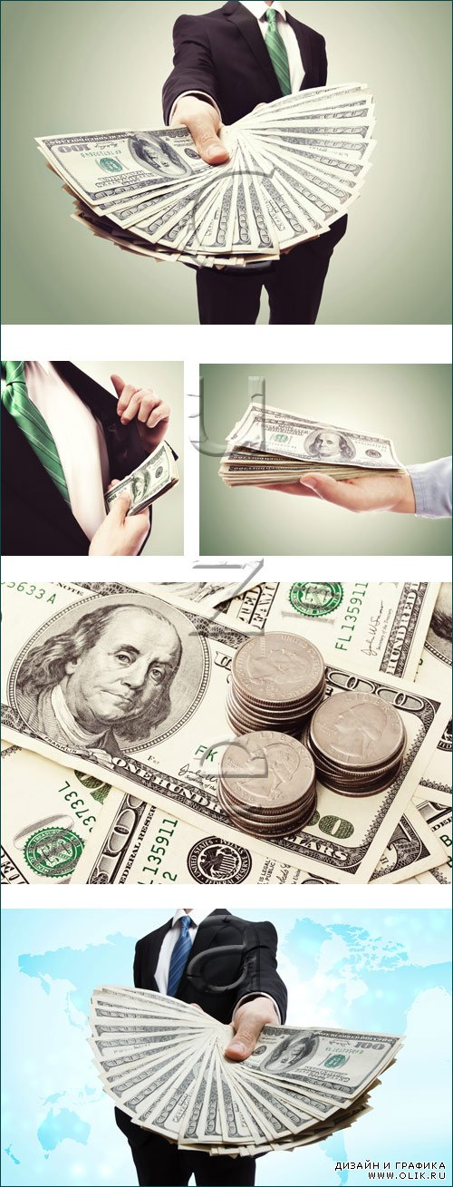 Money in the hands - stock photo