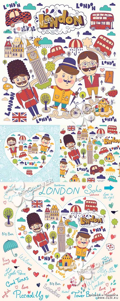 London symbols and cards 0481