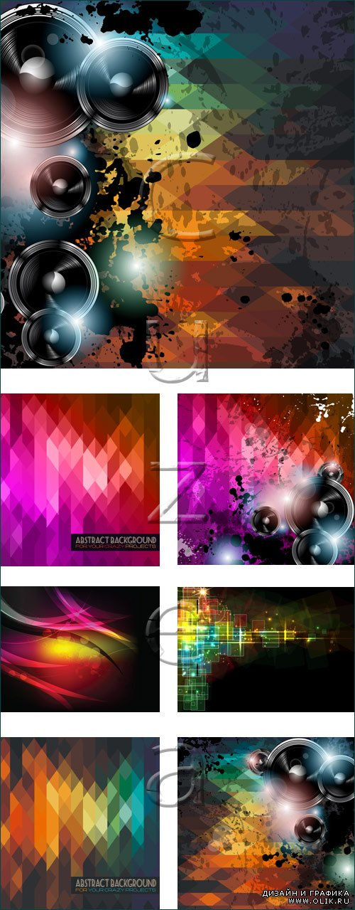 Abstract backgrounds, 12 - vector stock