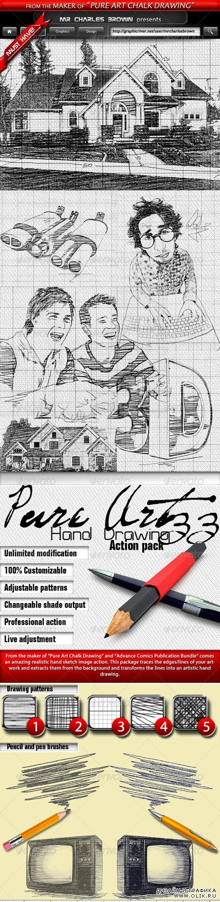 Pure Art Hand Drawing 33 – Italian Architect Art