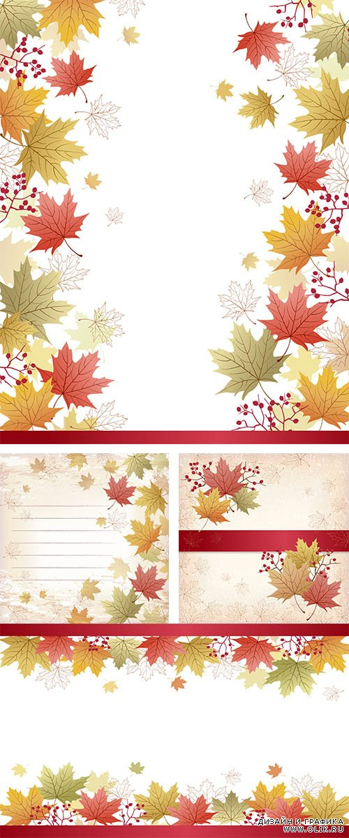 Stock: Autumn Maple leaves background