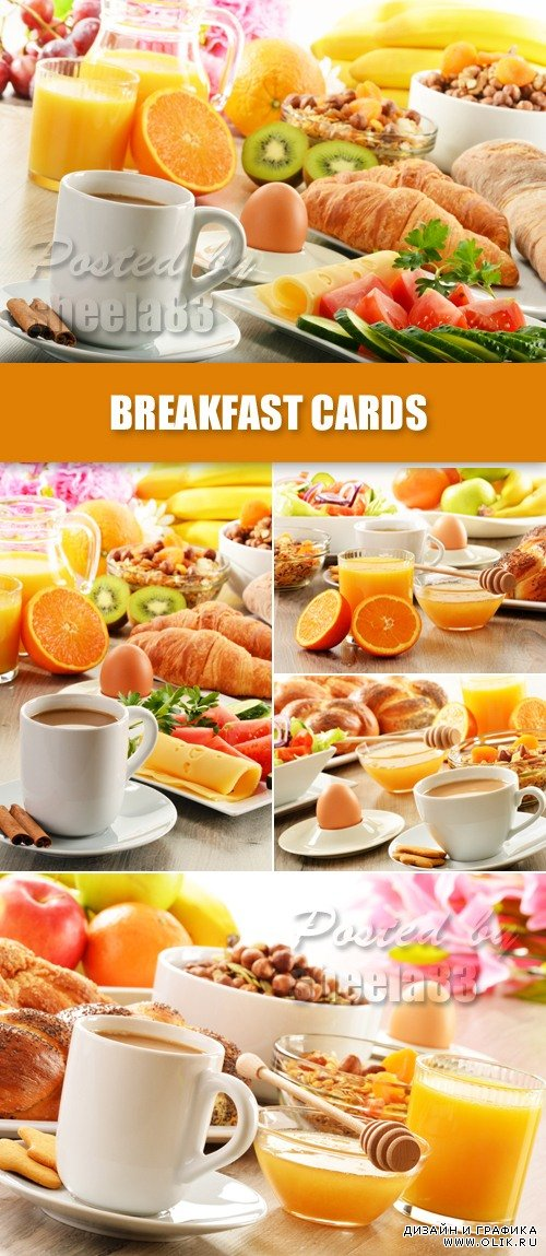 Stock Photo - Breakfast Cards