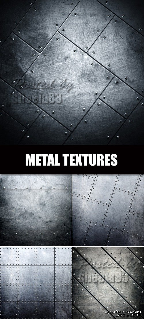 Stock Photo - Dark Metal Textures
