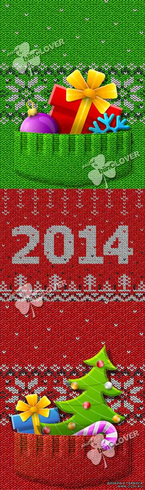 New Year 2014 knitted cards 0492