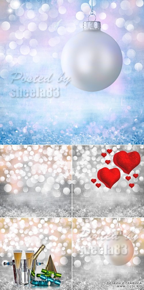 Stock Photo - Holiday Bokeh Backgrounds