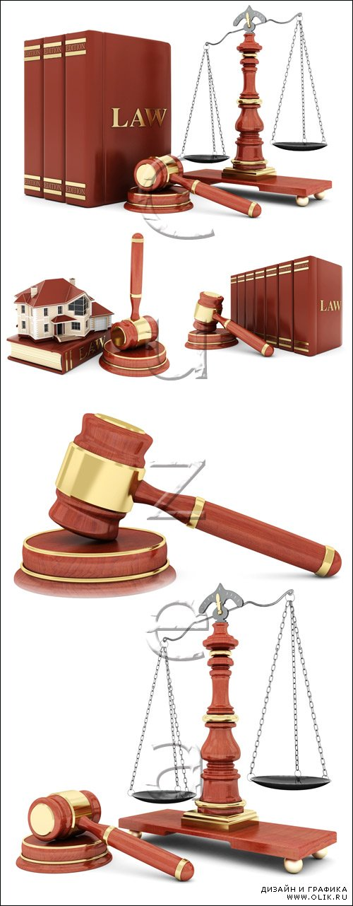 Beautiful image of judicial attributes - stock photo
