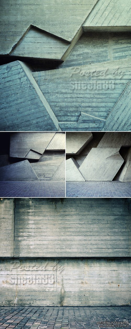 Stock Photo - Concrete Wall Backgrounds