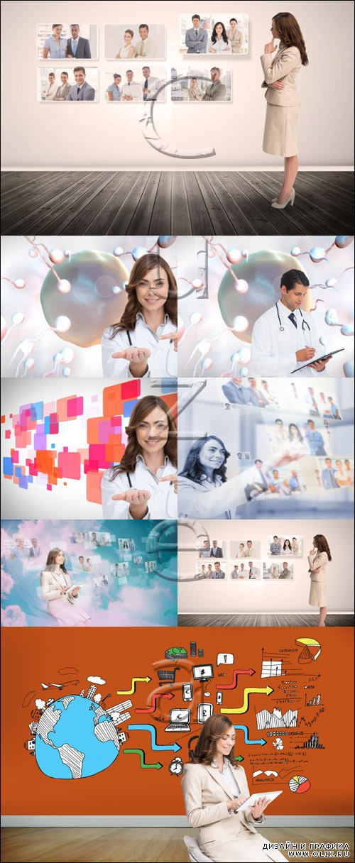 Medical creative collage - stock photo