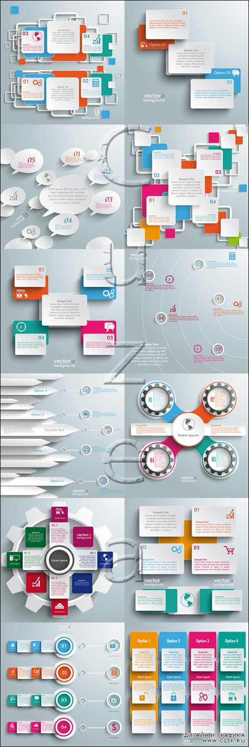 Infographic  vector abstraction elements, 82