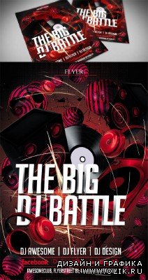 Dj Battle Flyer Template PSD