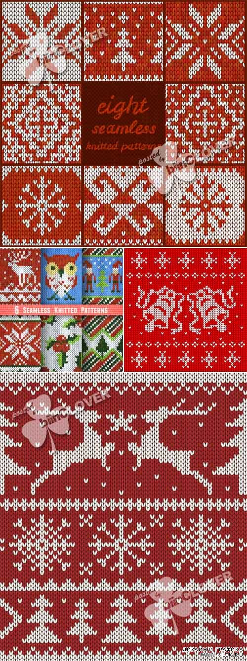 Christmas seamless knitted backgrounds 0501