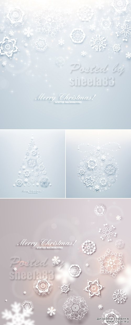 Light Christmas Backgrounds Vector