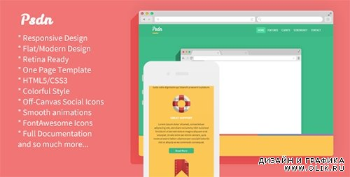 TF - Psdn - Colorful Responsive Landing Page - RIP