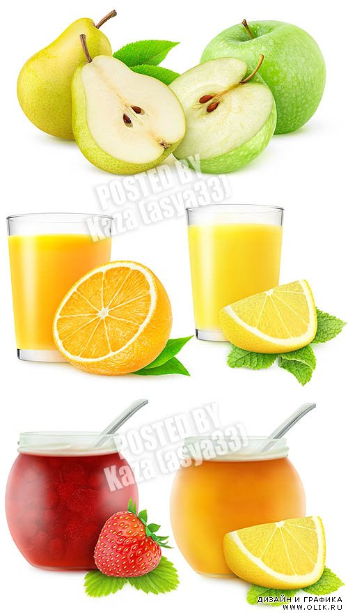 Fresh fruits & juice & jam
