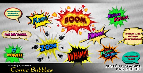 Comic Bubbles - Project for After Effects