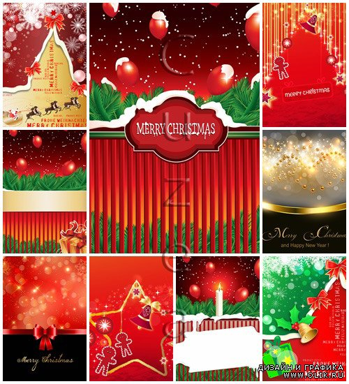 Merry christmas vector elements 2014, part 33