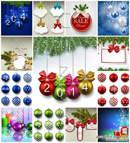 Merry christmas vector elements 2014, part 34