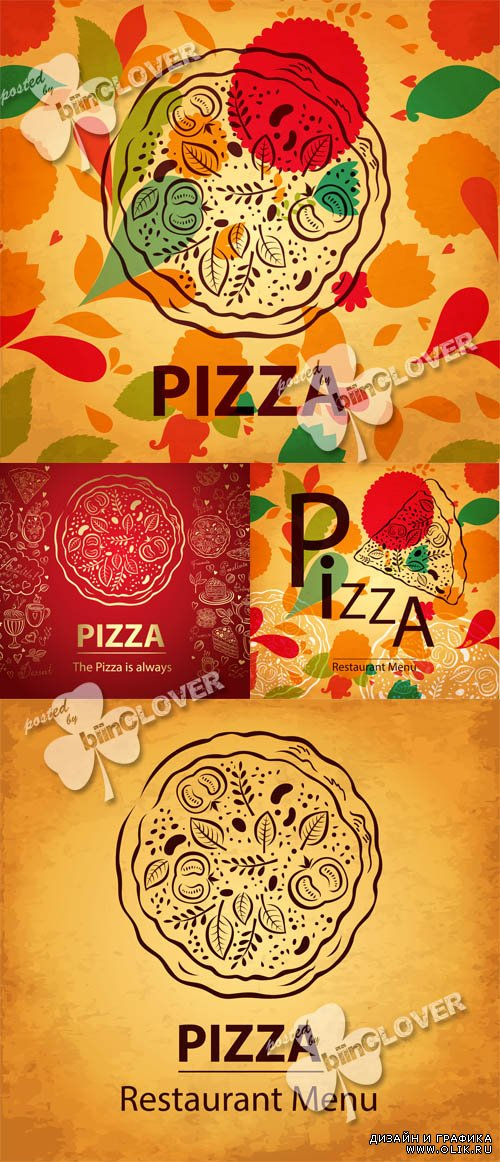Pizza menu design 0533