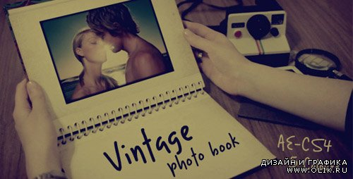 Vintage photo book - Project for After Effects