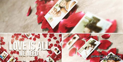 Rose Petals Heart - Photo Gallery - Project for After Effects
