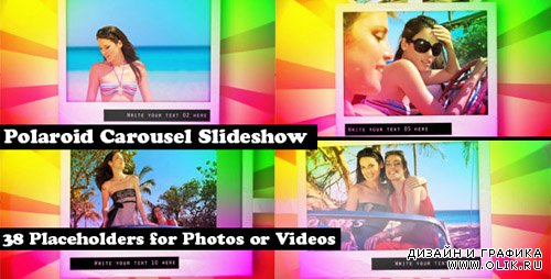 Polaroid Carousel Slideshow for Pictures and Video - Project for After Effects