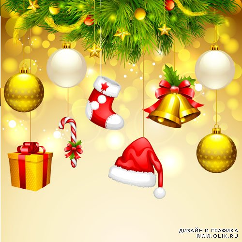 Stock: Vector illustration of Merry Christmas