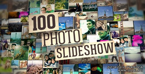 100 Photo Slide Show - Project for After Effects