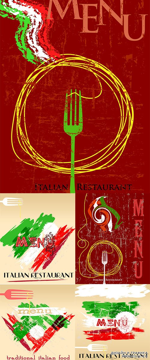 Stock: Menu design, italian restaurant