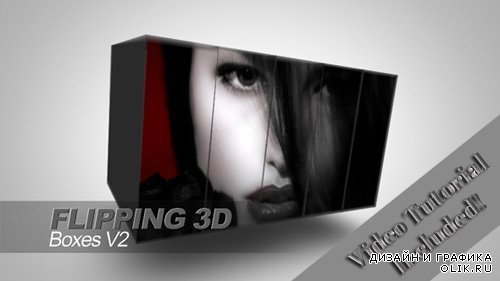 Flipping 3D Boxes V2 - Project for After Effects (RevoStock)