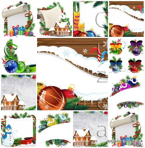 Vector stock : Christmas decoration, part 43