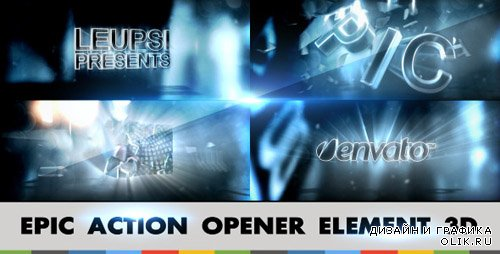 Epic Action Opener Element 3D - Project for After Effects