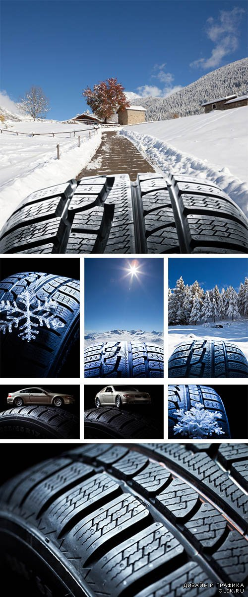 Stock Photo: Winter tires for cars